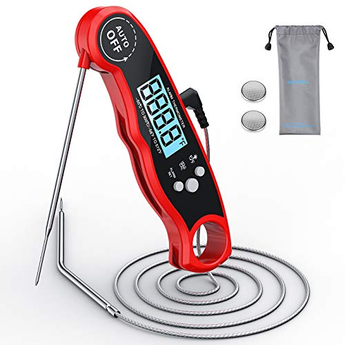 Nicewell Dual Probe Meat Thermometer Digital Instant Read for Kitchen, Oven Safe Leave in Food Cooking, Grill, BBQ, Smoker, Candy, Home Brewing, Coffee, and Oil Deep Frying