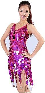 5cbc4b1635d Vestido de traje de flecos de las mujeres Mujeres Ropa de baile Sin  respaldo Sin mangas