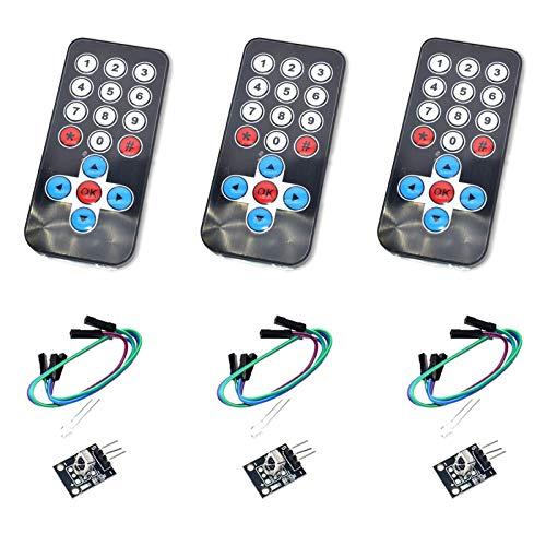 KYYKA Kit de sensor inalámbrico por infrarrojos (38 KHz) para Arduino AVR PIC (control remoto + placa receptor)