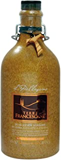 Terre Francescane - natives Olivenöl extra kaltgepresst Il Cantico GUSTO EQUILIBRATO / Mittelfruchtig Italien 500 ml / inkl. Anhänger-Kreuz aus Olivenholz