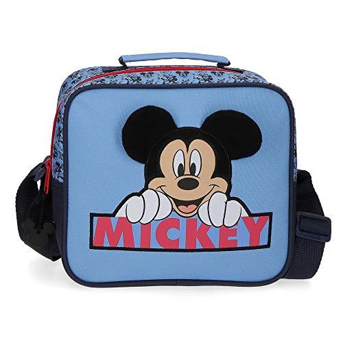 Disney Mickey Moods Neceser Adaptable con Bandolera Rojo 23x20x9 cms Poliéster