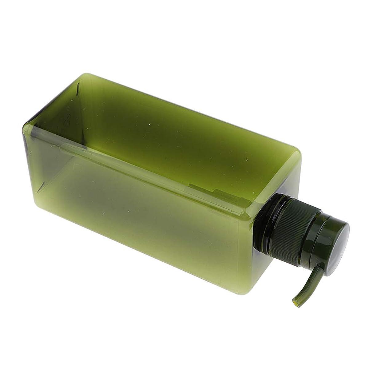 患者富参照F Fityle シャンプーボトル プラスチック ポンプボトル シャンプー詰め替え容器 650ml 4色選べ - グリーン