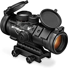 The Spitfire 3x Prism Scope excels in close to medium range shooting applications where fast target acquisition and speed is of the essence. The prism based design allows for a compact optical system without sacrificing optical quality. Fully multi-c...