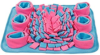 Dog Snuffle Mat Pet Training Pad Non Slip Feeding Nose Work Blanket Puppy Natural Foraging Skills Stress Release Soft Inte...