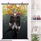Anime Dieu mangeur 2 Soma Schicksal Ciel Alençon Affiche de défilement Mural Dessin animé tenture Murale Affiche décoration de la Maison série 60x90 cm B