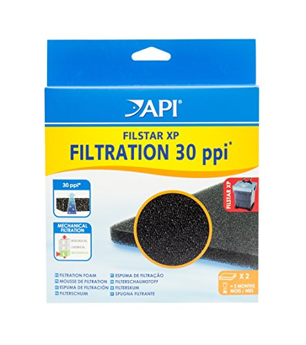 API FILSTAR XP FILTRATION FOAM 30 PPI Aquarium Canister Filter Filtration Pads 2-Count