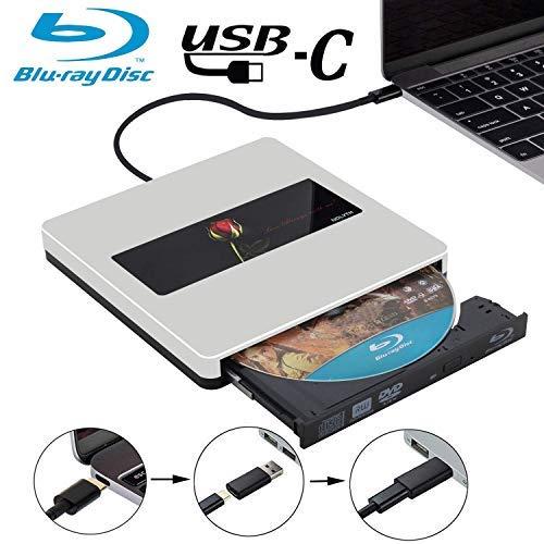 USB C External Bluray Drive Player NOLYTH USB3.0 External Blu-Ray Drive Burner Player for MacBook Pro/Air/Mac/Laptop/Windows 10