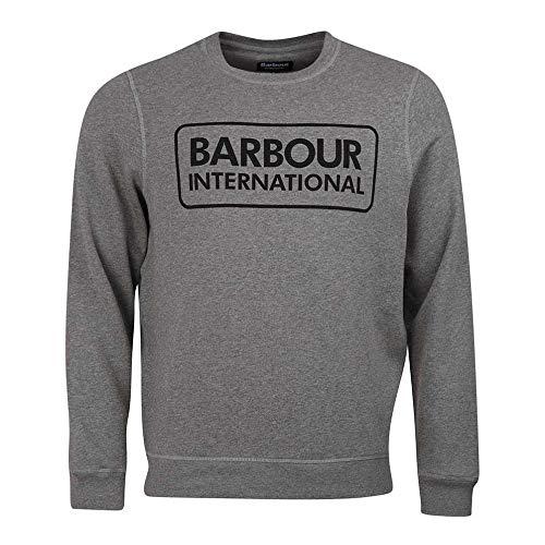 Barbour International Large Logo Sweatshirt Anthracite Marl-S