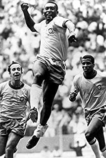 Pele soccer legend scores 1970 World Cup Final Mexico City 18x24 Poster