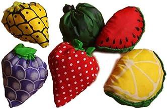 フルーツエコバッグ 8個入り ラッピング袋(8枚+予備1枚)つき フルーツ8種類各1個入り (8個入り)