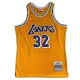 レイカーズの32番「マジックマン」ジョンソンは、復古色の濃密な刺繍を施し、ユニフォームのブランコは復古バスケットボールのユニフォーム、高