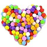 Gifort Pompones, Coloridos Pompones Balls, 250pcs / 2.0-2.5cm Bolas de Peluche Mullidas para Bricolaje, Manualidades y Decoraciones