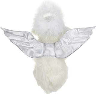FLAdorepet Pet Dog Angel Halo and Wings Set Funny Costume for Small Medium Dog and Cat
