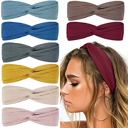 Huachi Headbands for Women Knotted Boho Hair Bands for Girls Cloth, Stretchy...