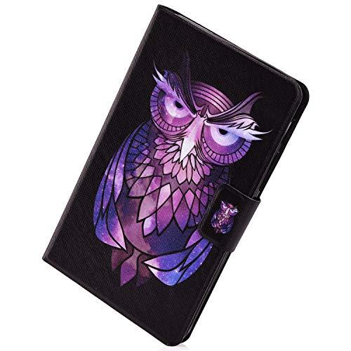 Herbests Compatible avec Huawei MediaPad T3 7.0 Coque Smart 360 Degrés Protection Cover Simili Cuir Tablette Étui avec Support Multi-Angle et Mise Veille en Automatique Case,Chouette