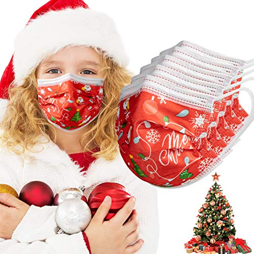 Kids Christmas Face Mask 3 Layers (Pack of 50 PCS)