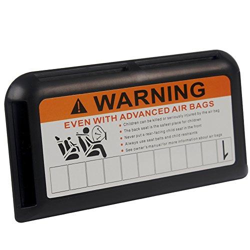 Pare-soleil de voiture Clip Cartes billets support de parking temporaire Numéro de téléphone Visière Clip Noir