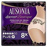 Ausonia Discreet Boutique, Braguitas para pérdidas de orina, L negras, bloquean el olor y la humedad Y evitan fugas x 8