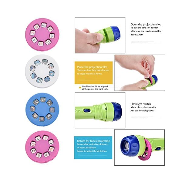 chifans-Toys-Animal-Torch-and-Projector-Kinder-Projektor-Taschenlampe-Kinder-Geschichte-Projektor-mit-12-FolienKinder-Projektionslampe