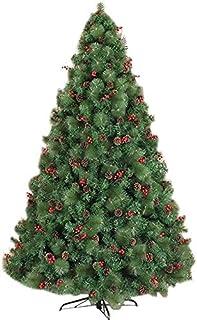 aipipl Arbre de Noël DIY Ornements Grand Arbre de Noël Artificiel 240cm 8ft Arbre de Noël avec Pomme de Pin Baies Rouges S...
