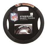 Fremont Die NFL San Francisco 49ers Poly-Suede Steering Wheel Cover, Fits Most Standard Size Steering Wheels, Black/Team Colors