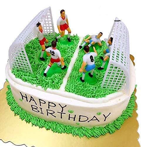 YeahiBaby Fußball Kuchen Dekorationen | Fussball Team Cake Topper Kit, 8er Set