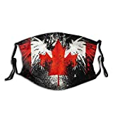 Canada Flag With Eagle Graphic Reusable Maks Mouth Cover With Filter