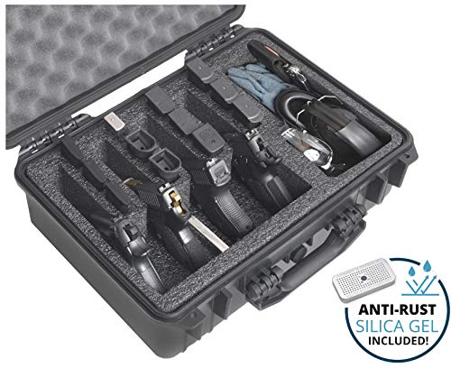 Case Club 4 Pistol and (up to) 29 Magazine with Accessory Pocket Pre-Cut Heavy Duty Waterproof Case...