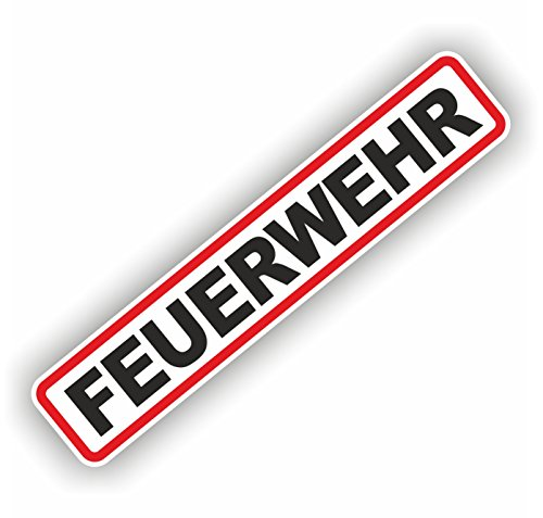 foliezentrum 1x brandweer 18 x 3,5 cm sticker Tuning 358 Shocker Auto JDM OEM Dub Decal Sticker Illest Dapper Oldschool Folie