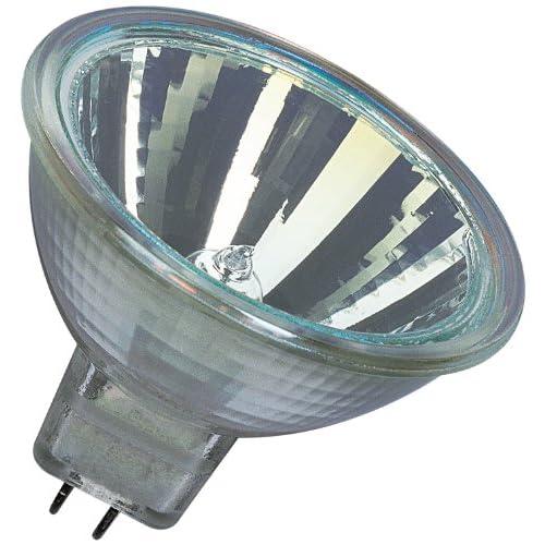 Osram 44860WFL - Set 10 pezzi Decostar, 51 s, 12 Volt, 20 Watt, piedistallo Gu 5,3, lampada alogena 36, riflettore e disco di copertura inclusi, diametro 51 mm