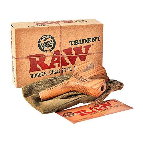 RAW - Soporte para cigarrillos (madera), diseño de tridente