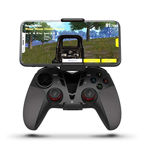 Darkwalker Mando Inalámbrico Bluetooth para iOS/Android OS/PS3/PC Windows, Mando De Videojuegos Compatible con Los Juegos Móviles Negro