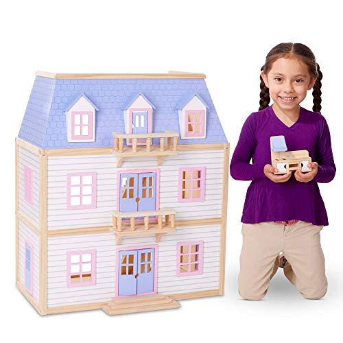 Melissa & Doug Wooden Multi-Level Dollhouse