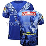 HUUH - Maillot de football japonais 2019 - Coupe du monde de rugby Samoa - Maillot de football - Maillot de compétition - Broderie en fibre de polyester - Séchage rapide - Respirant -  - Medium