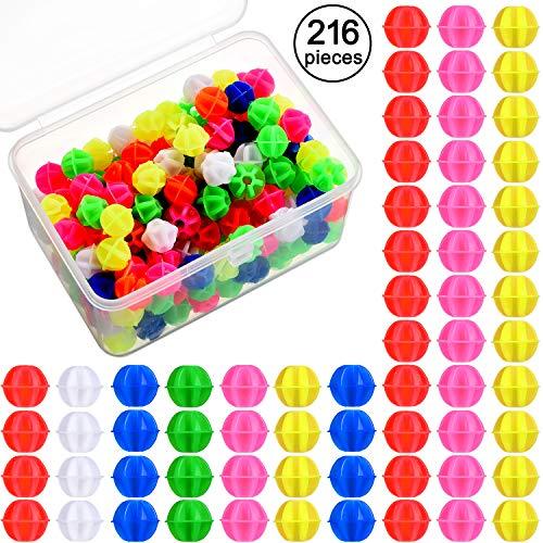 Gejoy 216 Stück Fahrrad Speichen Perlen Fahrrad Rad Speichen Perlen Farblich Sortiert Kunststoff Clip Perlen Speichen Dekoration mit Kunststoff Aufbewahrungsbox