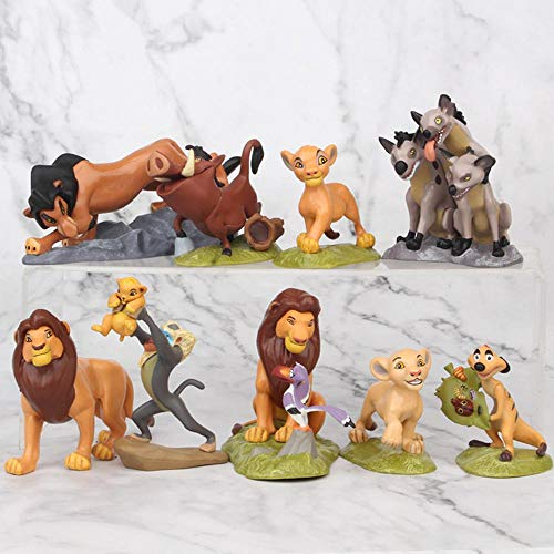 WILDLION Lion King Figuras De Acción Simba Nala Timon Modelo PVC Figuras Muñeca Clásica para Niños 9pcs / Set 5-9cm