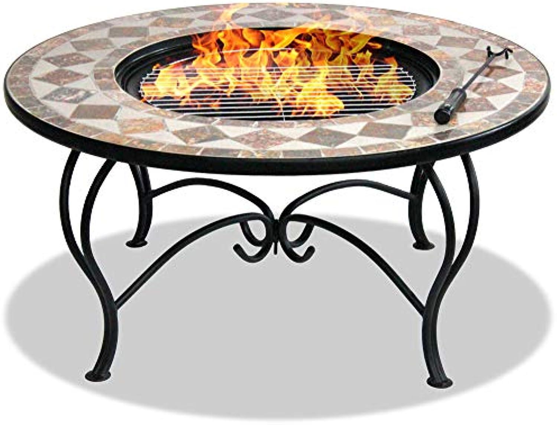 Centurion Supports fireology kennocha Garten Heizung Fire Pit Couchtisch Grill Ice Bucket–Marmor-Finish