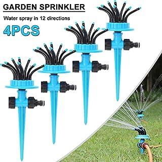 Garden Sprinklers - 12 heads Sprinkler 360 Degree Drip Irrigation Set Garden Watering System Nozzle Watering Hose Gardenin...