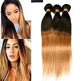 Dai Weier Brazilian Straight Hair Human Hair Extensions Weave Extension 3 Bundles Honey Blond Prime Cheap 18 20 22 Inches