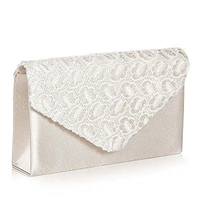 Womens Elegant Lace Envelope Clutch,WALLYN'S Evening Bag Handbag