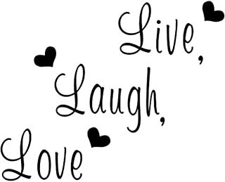 Creatiee Live Laugh Love Quote Wall Decal Sticker, Removable DIY Vinyl Wall Decor Art Mural for Thanksgiving Kitchen Table...
