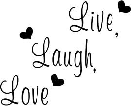 Creatiee Live Laugh Love Quote Wall Decal Sticker, Removable DIY Vinyl Wall Decor Art Mural for Thanksgiving Kitchen Table Home Décor - Embellishment & Home Warming Gift