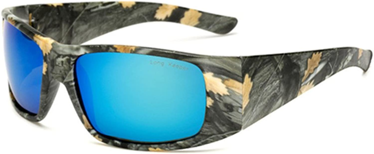 LongKeeper Camouflage Sunglasses Sport Polarized Goggles for Hunting Cycling Fishing