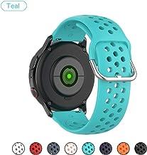 Bemodst - Correa de reloj universal de 20 mm, silicona suave con orificios de aire, correas ajustables de repuesto para Garmin Vivoactive 3/Vivomove HR 20 mm