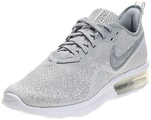 Nike Air MAX Sequent 4, Zapatillas de Deporte para Hombre, Blanco (White/White/Wolf Grey 100), 42 EU