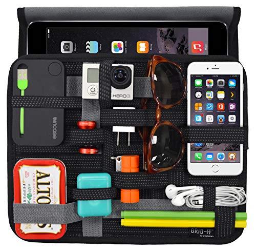 Cocoon CPG36BK GRID IT WRAP 10 iPad Hulle Organizer mit elastischen Bandern Schwarz
