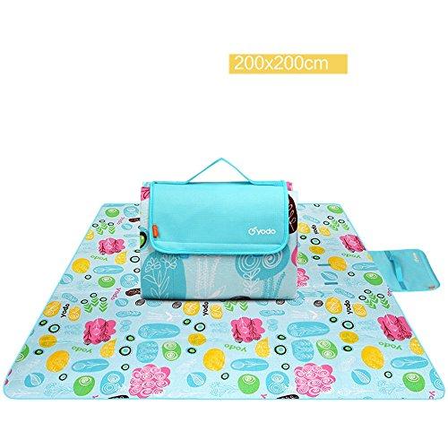 COCO Picknick mat vochtbestendig pad outdoor picknick kamp strand tent mat waterdicht gevoerde gazon mat picknick doek 200cm*200cm Baby #7