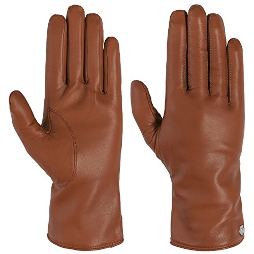 Roeckl Scotchgard Leder Damenhandschuhe Winterhandschuhe Fingerhandschuhe (8 1/2 HS - braun)