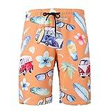 HStuiche Hombres Impresión Playa Pantalones Cortos Moda Casual for Hombre Rápida Traje de Baño Seco con Bolsillos - Viaje de Vacaciones de Verano Cómodo Personalidad Beach Cortocircuitos del Tablero