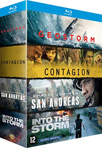 Coffret 4 films : contagion ; geostorm ; san andreas ; into the storm [Blu-ray] [FR Import]